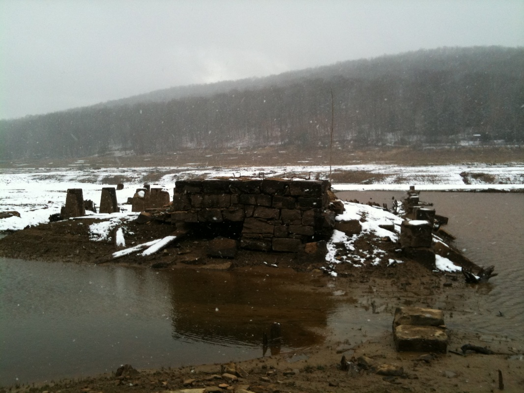 Flooded Town of Instanter, Pennsylvania